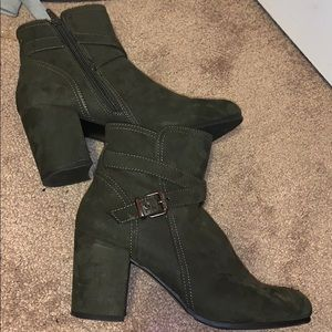 Olive Green Steve Madden Booties !